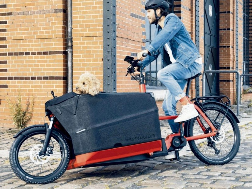 "Cargo-E Bike ""Packster 70"" von Riese & Müller"