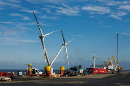 Windkraft auf See: Zwei auf einen Streich