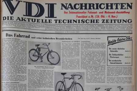 1951: Das Fahrrad und seine technischen Besonderheiten
