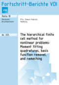 The hierarchical finite cell method for nonlinear problems: Moment fitting quadratures, basis function removel, and remeshing