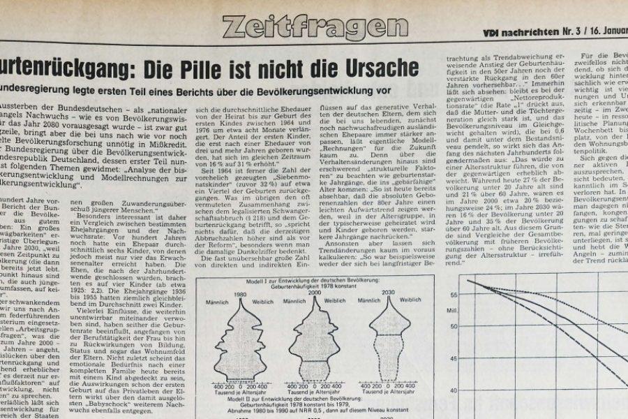 """1981: Furcht vor dem """"Pillenknick"""""""