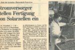 1995: Schluss mit der Solarproduktion in Deutschland