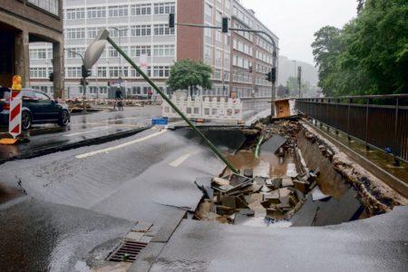 Hochwasser flutet Teile von Stolbergs Metallindustrie