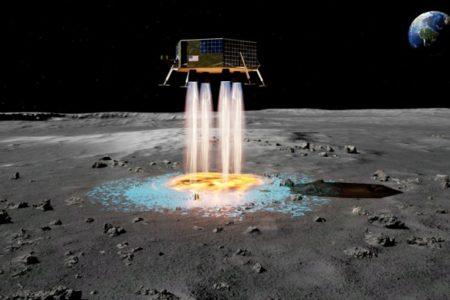 Mondfähre baut sich ihren Landeplatz selbst