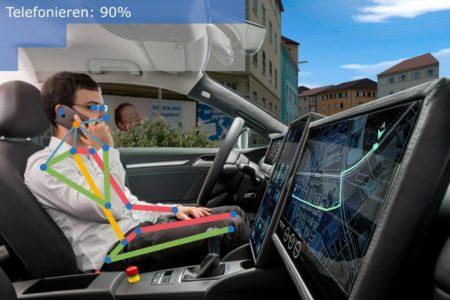 Kameras im Innenraum analysieren Aktivitäten von Fahrern und Insassen